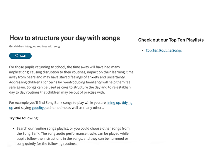 How to structure your day with song