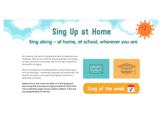 Help with using Sing Up at Home